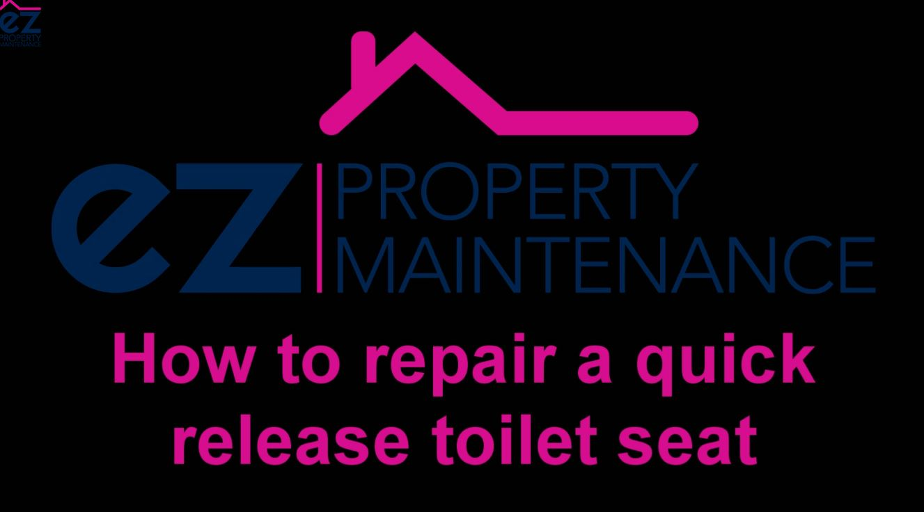 How to repair a quick release toilet seat