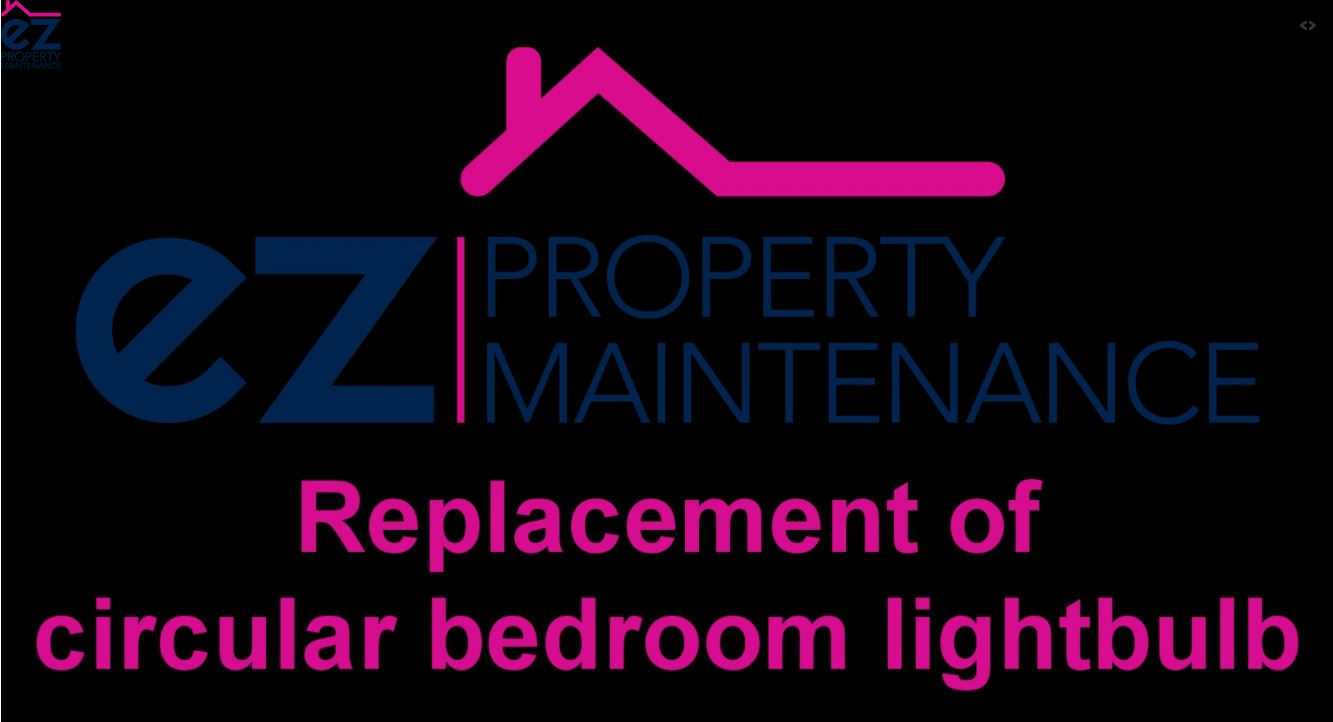 How to replace a circular bedroom light bulb