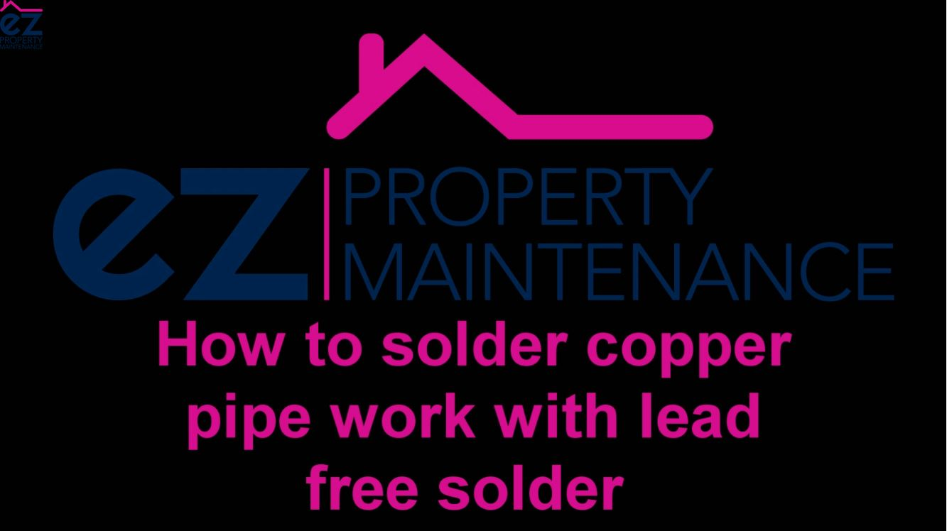 How to solder copper pipe work